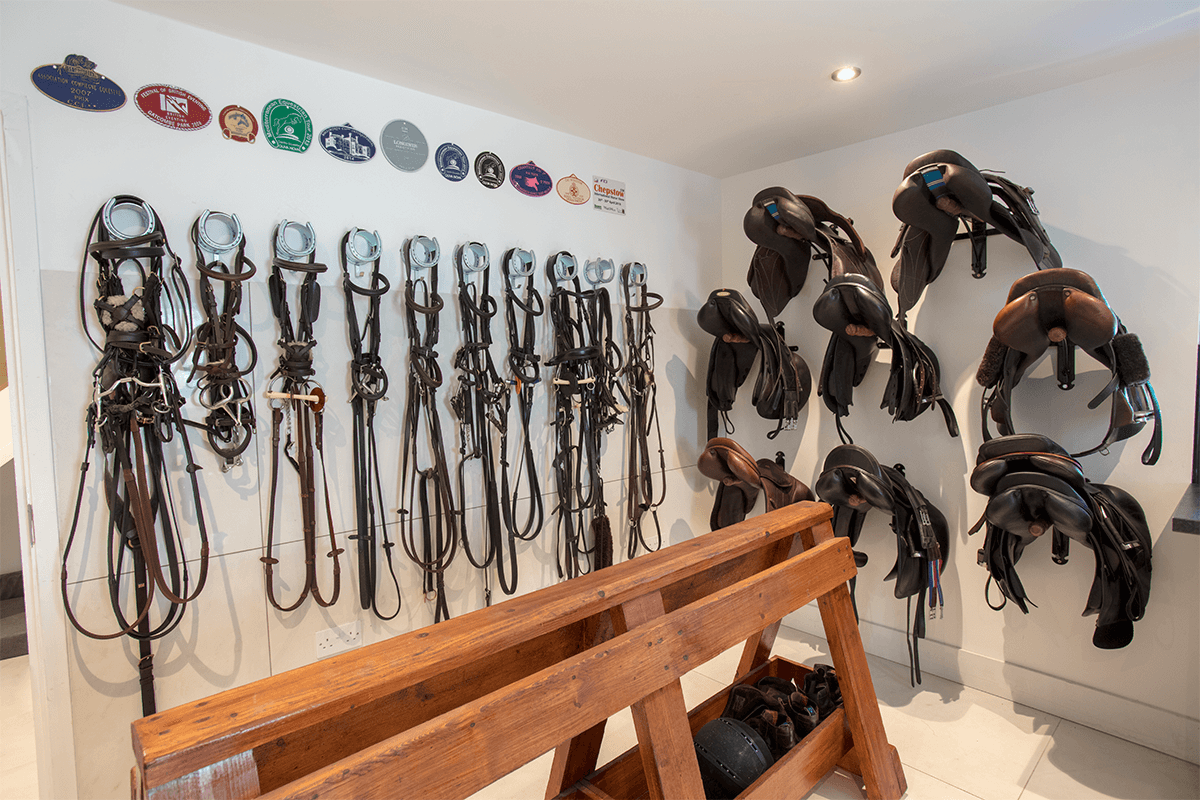 Indoor arena tack room