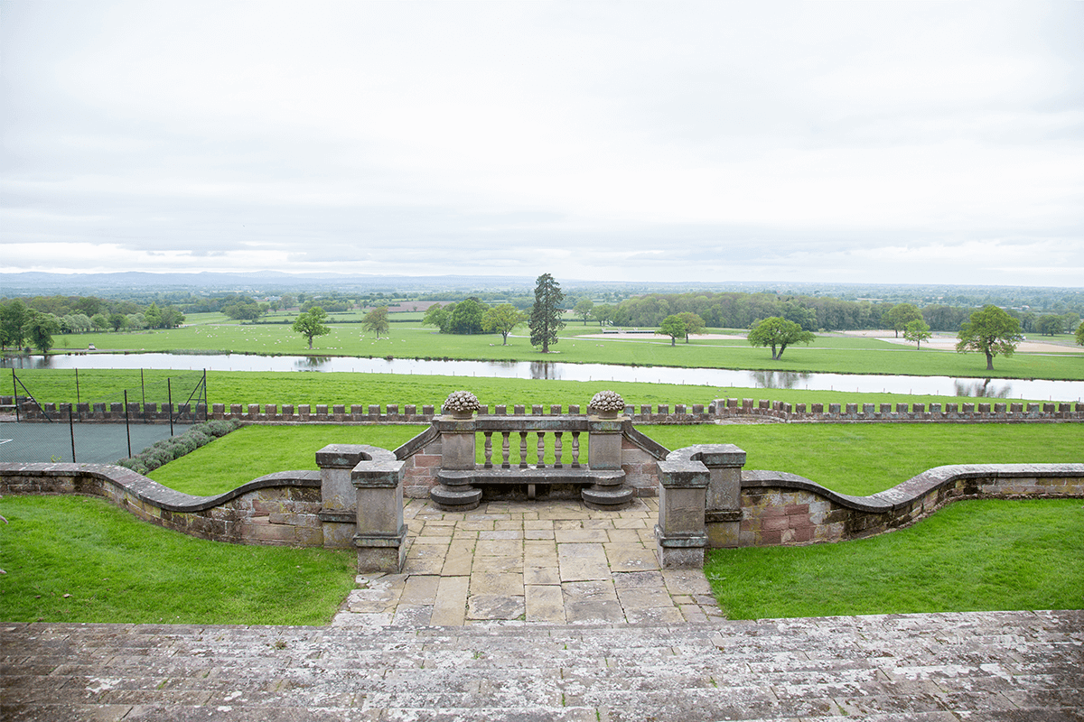 View from Bolesworth Castle front
