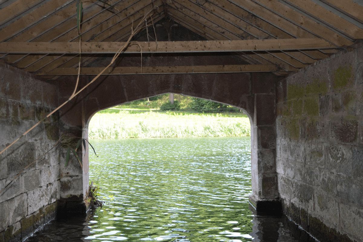 View from inside Boat House